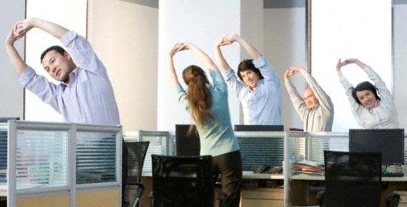 Смотреть Незаметная для всех гимнастика в офисе видео